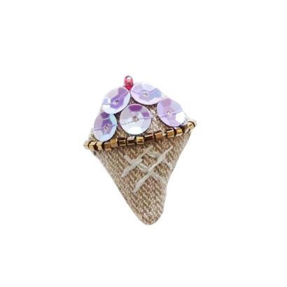 Miniature Ice Cream Brooch