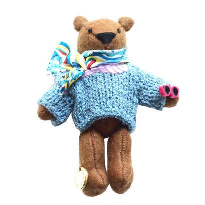 Teddy Bear Necklace-Blue Sweater-