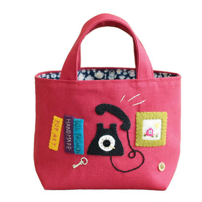 Tote Bag(Phone/red)