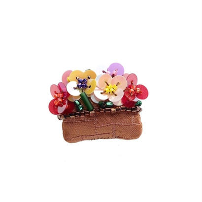Miniature  Flower Bed Brooch