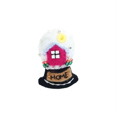 Miniature Snow Globe Brooch(Home)
