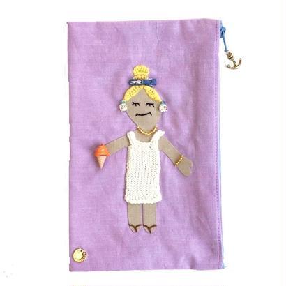 Pouch-Summer Girl-  (purple)
