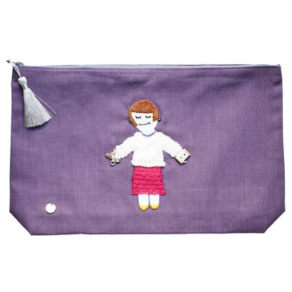 Big Size Pouch-Autumn-(Purple)