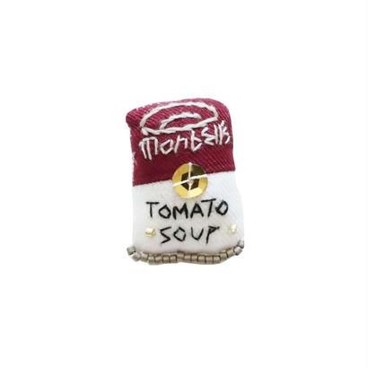 Miniature Tomato Soup Brooch
