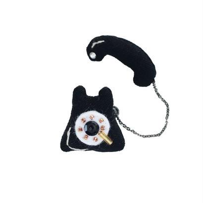 Miniature Dial Phone Brooch