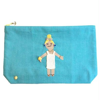 Big Size Pouch-Summer Girl-   (blue)
