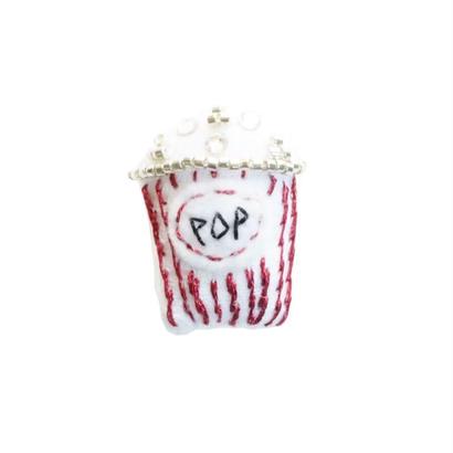 Miniature Popcorn Brooch