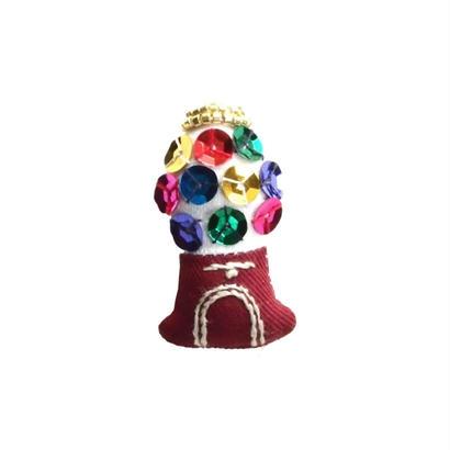 Miniature Gumball Machine Brooch