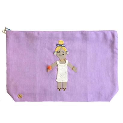 Big Size Pouch-Summer Girl-  (purple)