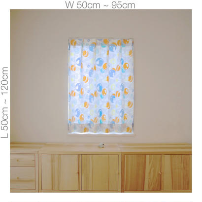 "【ORDER CURTAINS】""水玉"" 巾 50cm~ 95cm ・ 丈 50cm~120cm(1枚)"
