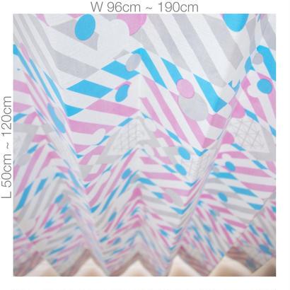 """【ORDER CURTAINS】オーダーカーテン(遮光裏地付):""""羽根""""パープル 巾 96cm~190cm ・ 丈 50cm~120cm(2枚セット)"""