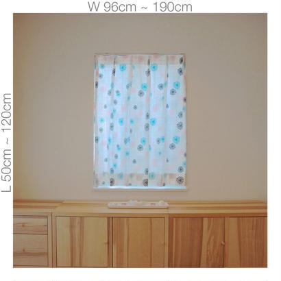 """【ORDER CURTAINS】オーダーカーテン:""""風車""""ピンク 巾 96cm~190cm ・ 丈 50cm~120cm(2枚セット)"""