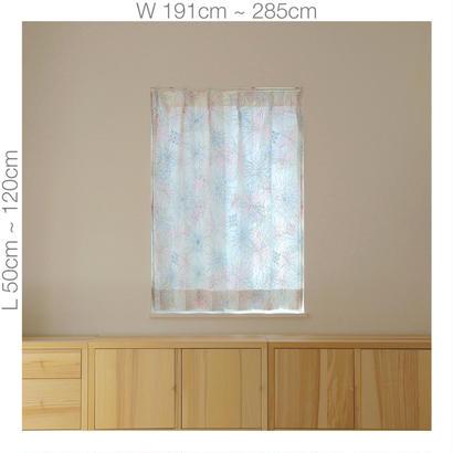 """【ORDER CURTAINS】オーダーカーテン:""""花火""""ピンク 巾 191cm~285cm ・ 丈 50cm~120cm(2枚セット)"""