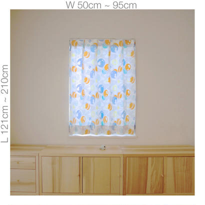 "【ORDER CURTAINS】""水玉"" 巾 50cm~ 95cm ・ 丈 121cm~210cm(1枚)"