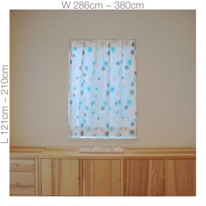 "【ORDER CURTAINS】""風車"" 巾 286cm~380cm ・ 丈 121cm~210cm(2枚セット)"
