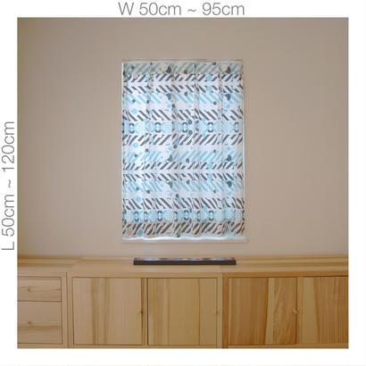 """【ORDER CURTAINS】オーダーカーテン:""""羽根"""" 巾 50cm~ 95cm ・ 丈 50cm~120cm(1枚)"""