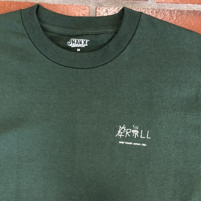 JHAKX  x  Grill skateboard T-shirts(Forest Green