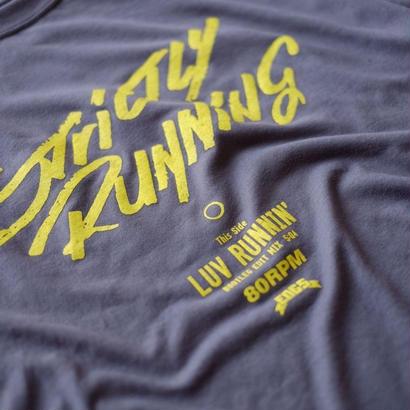 LUV RUNNIN' T-shirts 【Gray×Yellow】
