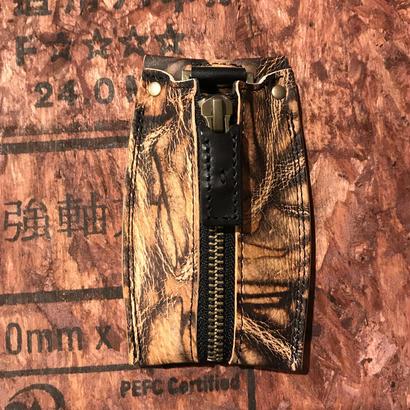 Kc-001 カード収納型キーケース 泥染ー2