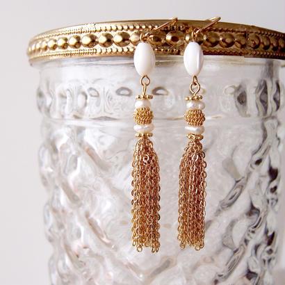 tassel pierce〈mother of pearl〉PIF160104