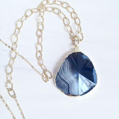 agate necklace 〈NV〉 NE160202