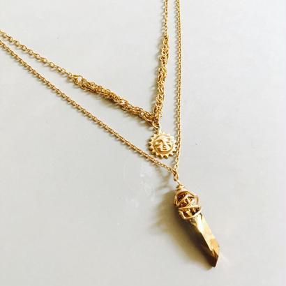 sun×crystal necklace NE170101