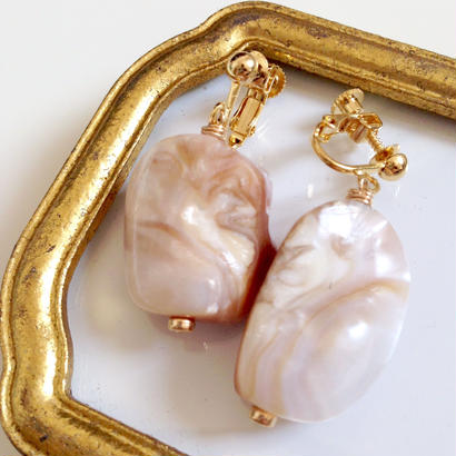 marble shell earrings EA160204