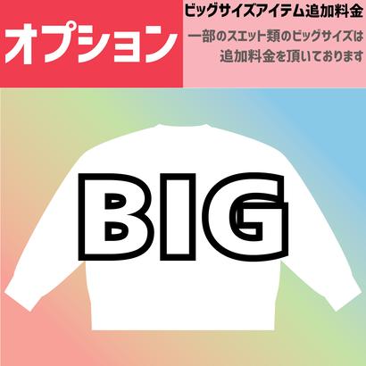 【オプション】ビッグサイズパーカー・スエット追加料金