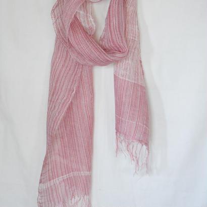 リネンストール(ピンク)Linen stole