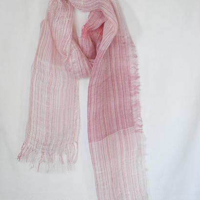 リネンストール(ピンクホワイト)Linen stole