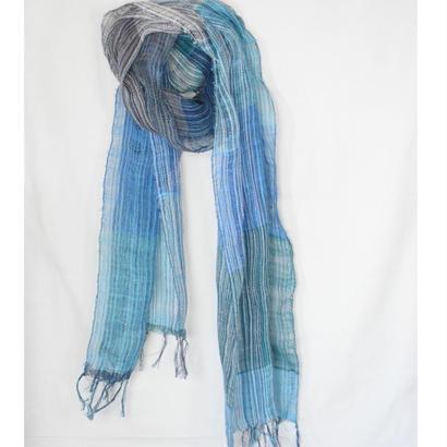 リネンストール(ブルー)Linen stole