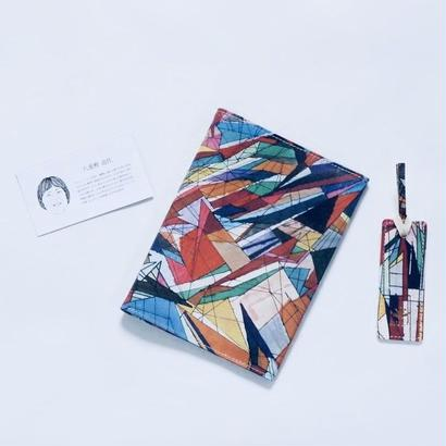 Michiyo Yaegashi「おりがみ」/ 本革製ブックカバー&しおりセット