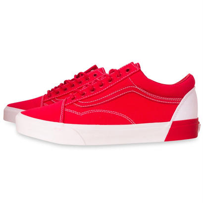 Bld Old Skool Shoe - True White/Racing Red