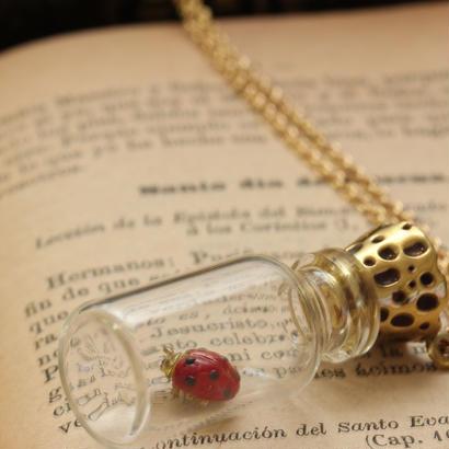 *GlassBottle&Ladybugネックレス