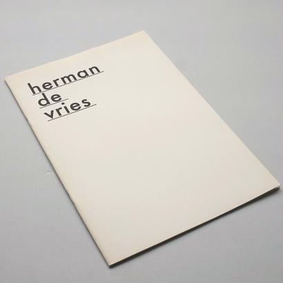 herman de vries (blind gallery)