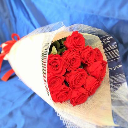 プリザーブドフラワー レッドローズの花束~11本~最愛~