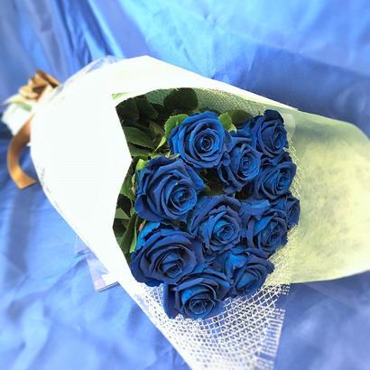プリザーブドフラワー ブルーローズの花束~11本~最愛~