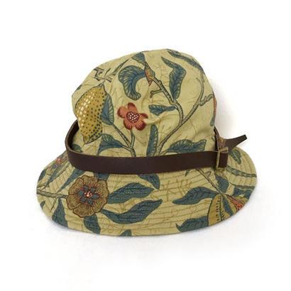 【HACHIGAHANA】william morris wild glass hat (ウィリアム モリス ワイルドグラスハット)  -YELLOW-