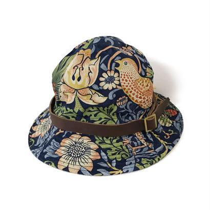 【HACHIGAHANA】william morris wild glass hat (ウィリアム モリス ワイルドグラスハット)  -NAVY-