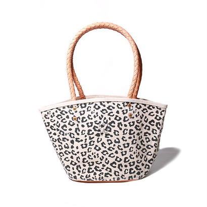 【THE SUPERIOR LABOR for woman】leopard marcket bag S(レオパード マーケットバッグ S)