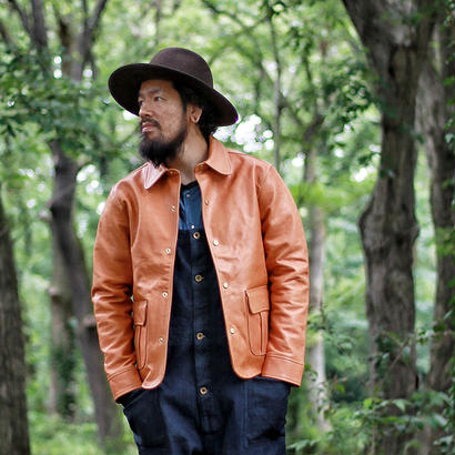 【THE SUPERIOR LABOR 】leather work jacket