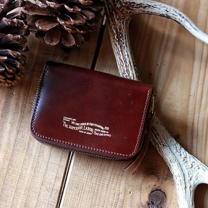 【THE SUPERIOR LABOR 】cordovan zip small wallet -BURGUNDY-