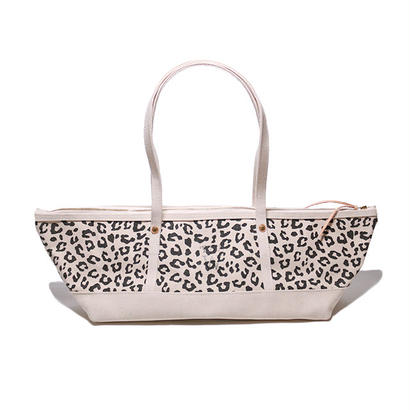 【THE SUPERIOR LABOR for woman 】canvas boat bag leopard L(キャンバス ボートバッグ レオパードL)