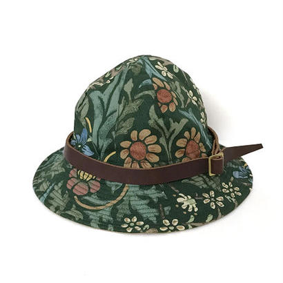 【HACHIGAHANA】william morris wild glass hat (ウィリアム モリス ワイルドグラスハット)  -GREEN-