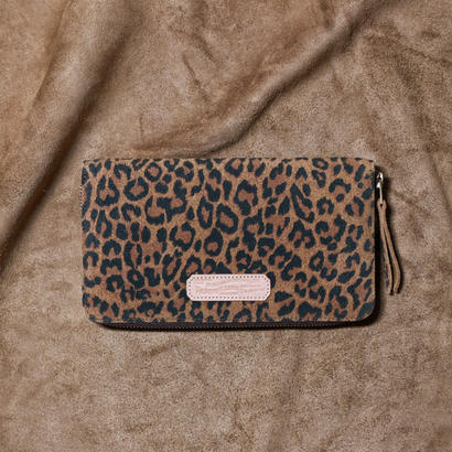 【THE SUPERIOR LABOR 】leopard print large zip wallet