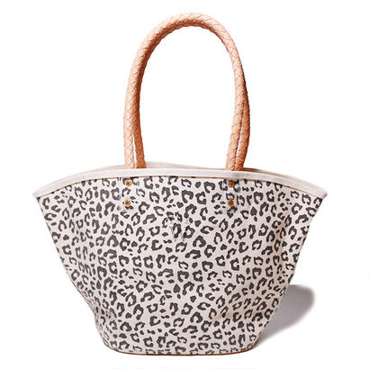 【THE SUPERIOR LABOR for woman】leopard marcket bag L(レオパード マーケットバッグ L)