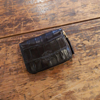 【THE SUPERIOR LABOR 】crocodile zip small wallet(クロコダイルジップスモールウォレット)