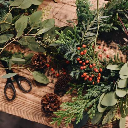 workshop:11/18(sun)10:00-12:00  Christmas wreath