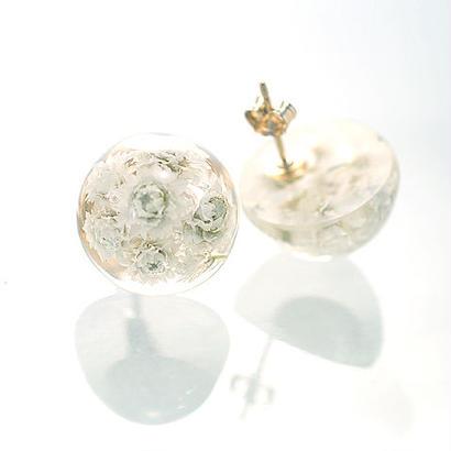 ヤマハハコ【3色選択】花束のピアス 14kgf(イヤリング可)