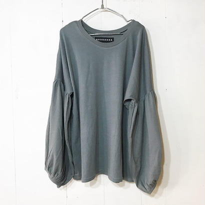 BALLOON SLEEVE TOPS / CHARCAOL GRAY